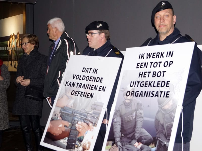 militairen demonstratie
